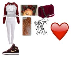 """For today"" by mynameisyaya ❤ liked on Polyvore featuring NIKE, WithChic, Pieces and Agent 18"
