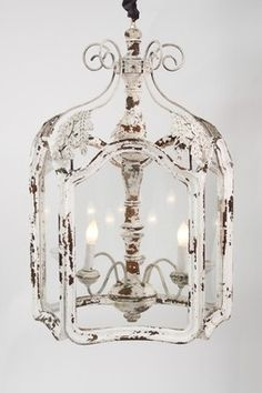 What makes a chandelier shabby chic? Check out these 10 beautiful shabby chic chandeliers, and how to make them yours! Cocina Shabby Chic, Shabby Chic Kitchen, Shabby Chic Homes, Shabby Chic Decor, Rustic Decor, French Country Lighting, French Country Chandelier, Farmhouse Lighting, Farmhouse Chandelier