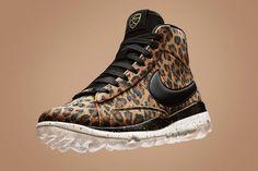 The Leopard-Print Nike Blazer Golf Shoe Is Available Now. The golf shoe gets wild Zara Sneakers, Leather Sneakers, Leopard Print Nikes, Cheetah Print, Air Jordan, Reebok, Nba, Shoe Releases, Womens Golf Shoes