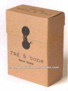 paper box with leather handle - Google Search