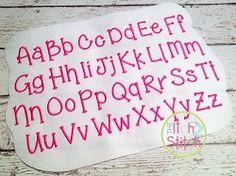 Grandma's Garden Font - 4 Sizes!   Mini Designs   Machine Embroidery Designs   SWAKembroidery.com The Itch 2 Stitch