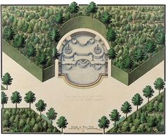 Garden and Fountain Land Art, Mythe, Palace Garden, Palace Of Versailles, Marie Antoinette, Plans, Aerial View, Alchemy, Country Life