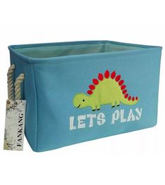 Feb 6, 2020 - Rectangular Fabric Storage Bins Laundry Basket for Kids Toys Hamper Organizer Size: Width 13.5inch* Length 15.7inch*Height 10inch Dinosaur Blanket, Dinosaur Bedding, Dinosaur Nursery, Dinosaur Toys, Fabric Storage Bins, Toy Storage Boxes, Laundry Storage, Storage Basket, Toy Boxes