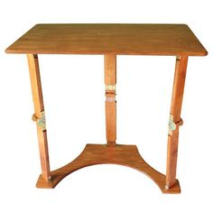Spiderlegs Tables, Inc Golden Oak Color Wooden Folding Laptop Desk And Tray Table