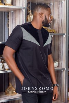Check out this Fashionable modern african fashion African Shirts For Men, African Attire For Men, African Clothing For Men, African Wear, African Dress, African Outfits, Nigerian Men Fashion, African Men Fashion, Muslim Fashion