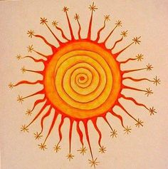 I love the playful interpretation of the sun as both a center of energy and its starry reach. As I sit in meditation, I feel something similar occurring.