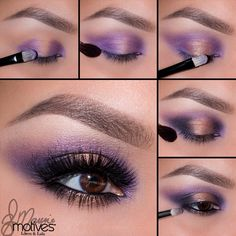 'Fantasy': purple inner & outer corners of the eye, gold in the center.