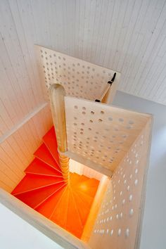 Completed in 2010 in Oslo, Norway. Images by Thomas Bjørnflaten. Reiulf Ramstad Architects has been involved in designing a new kindergarten for Fagerborg Congregation in central Oslo. The kindergarten offers Interior Stairs, Interior Exterior, Interior Architecture, Interior Design, Staircase Architecture, School Architecture, Oslo, Modern Staircase, Staircase Design