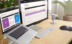 Conception UX et UI Design pour un logiciel en ligne conçu avec le Framework Bootstrap.