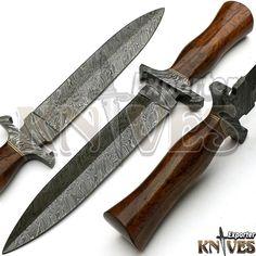 New Custom Made Damascus Steel Dagger Knife, Wooden Handle by KNIVES EXPORTER #KNIVESEXPORTER