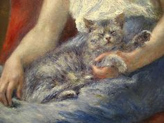 Pierre-Auguste Renoir: Sleeping Girl with a Cat (1880)