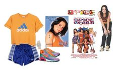 """""""Sporty"""" by iliveinthe90s ❤ liked on Polyvore featuring adidas, NIKE, 90s, sporty, SpiceGirls, SportySpice and spiceworld"""