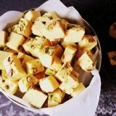 Homemade saffron fudge by codojedzenia