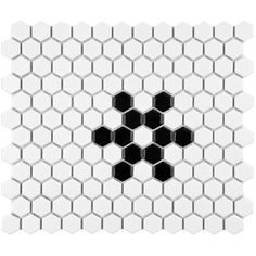 """Found it at Wayfair - Retro 0.875"""" x 0.875"""" Hex Porcelain Mosaic Tile in Matte White with Snowflake"""