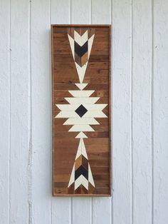 Wood Wall Art Reclaimed Wood Wall Decor Lath Art by PastReclaimed