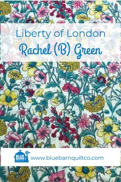 $45 CAD per yard. Liberty of London Fabrics Rachel (B) Green.  Tana Lawn cotton has a unique print quality and colour absorption that is second to none, with a  distinctive hand-feel and translucent softness that ensures it remains a versatile favourite.100% Cotton Lawn 54″ wide. Sold by the 1/4 yard or in Fat Quarters, ships to Canada and USA.   #libertylove #libertyfabric #libertyoflondonfabric #modernquilting #longarmquilting #yegquilter  #ilovequilting #quiltersdream #quiltersofinstagram Liberty Of London Fabric, Liberty Fabric, Botanical Flowers, Longarm Quilting, Lush Green, Fat Quarters, Art Techniques, Quilt Patterns, Stitches