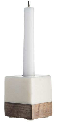 Ljusstake - Marmor & Trä - 6x5 från Madam Stoltz 95.00 kr - Fröken Fräken