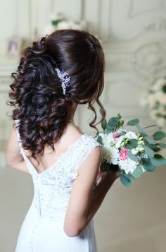 Blue Bridal hair comb Something blue Wedding hair by TopGracia