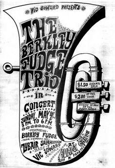 The Berkley Fudge Trio Jazz Art, Jazz Music, Music Genre, Vintage Concert Posters, Vintage Posters, Genre Posters, Music Posters, Jazz Poster, Jazz Festival