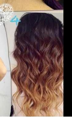 PERFECT ombre on dark hair