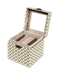 Elegant 3 Level Jewellery Box and Organizer Floral Pattern
