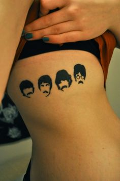 Awesome Beatles Tattoo  Made me think of @Laura Shelton :)