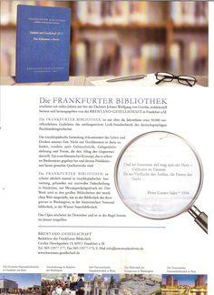 """Eine große Anerkennung für mich: Die Frankfurter Bibliothek hat nicht nur ein Gedicht von mir angenommen, sondern einige Verse im Prospekt """"unter die Lupe"""" genommen. Lupe, Verse, New Books, Poetry, Thoughts"""
