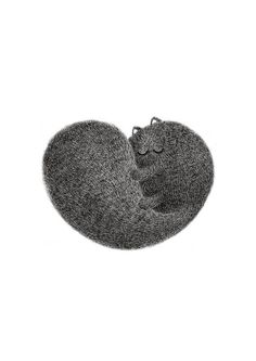 Cat Print  The Furry Thing Series  Kitty No.4 Love Yourself