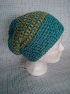 Boshi Frodo Turqouise & Gold Crochet Hats, Beanie, Gold, Beanies, Beret