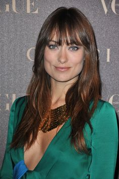 Olivia Wilde, bangs and soft ombre