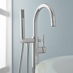 Bath Faucet With Hand Shower