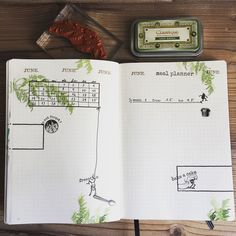 Planner decoration for June: It's a jungle out there  ** Wochendeko für Juni  #brownies #plannerlove #plannerstamps #makistamps