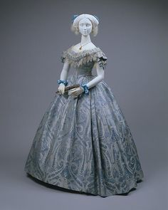 Ball gown (image 1) | probably American | 1860 | silk, cotton | Metropolitan Museum of Art | Accession Number: 1983.479.1a–c