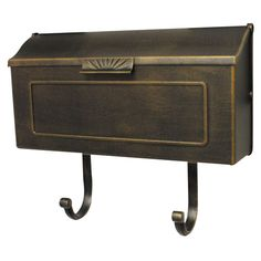 Horizon Bronze Horizontal Mailbox: newspaper holder is optional