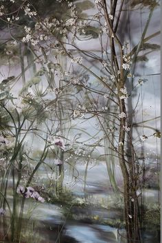 """Claire Basler is a French floral painter who lives and works in a former schoolhouse in Les Ormes, right outside of Paris. On a daily basis, she creates huge floral arrangements and puts them around her house, using them as sources of inspiration for her paintings. """"In her garden, she witnesses nature's fight for life against the wind, the rain, and the sun,"""" according to the Telegraph. """"This is what Claire Basler portrays in her paintings: the strength and frailty of a flower, the…"""