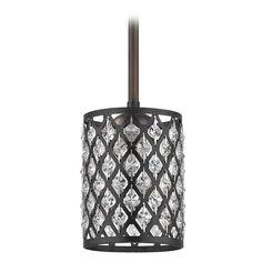 Design Classics Lighting Crystal Bronze & Phoenix Stem Hung Mini-Pendant Light 581-220 GL1046-148