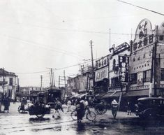 渋谷(昭和7年)▷渋谷駅前・路面電車(玉電) | ジャパンアーカイブズ - Japan Archives