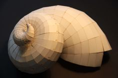 a research on natural forms by Intelligent Systems & Architectural Engineering Research Center Cardboard Model, Cardboard Sculpture, Cardboard Paper, Nautilus, Origami Paper Art, Paper Crafts, Mermaid Crafts, Origami Models, Wooden Art