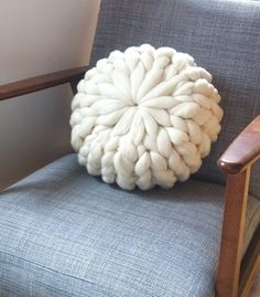 Round hedgehog cushion
