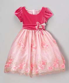 Take a look at this Pink Rosette Embroidered Dress - Infant, Toddler & Girls by Kid Fashion on #zulily today!