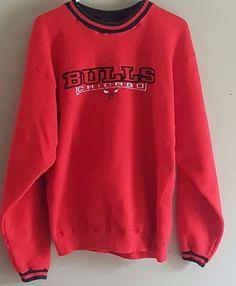 da1e78027 Vintage 90's Chicago Bulls PRO PLAYER Crewneck Sweatshirt Men's XL  #ProPlayer #ChicagoBulls Mens Sweatshirts