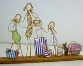 Départ en vacances ! - figurines en ficelle et papier