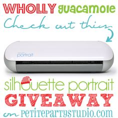 Enter to win a Silhouette Portrait from @Petite Party Studio Rebecca & Shannon