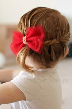 Cute and Easy Valentine Hair Bow Tutorial