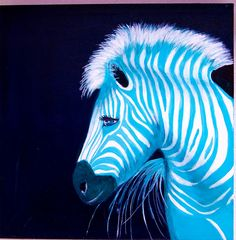 Zebra Blue pop art: fluffy and blue.. all my dreams are coming true!
