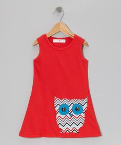 Boasting a big textured appliqué and sleeveless silhouette, this super-fun dress slides right on with a perfect fit. Plus, soft and stretchy cotton creates a comfy feel that makes any day of play better.