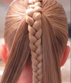Ponytail with a braid in the middle