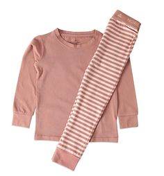 schlafanzug 2-teilig altrosa bei heldenkind