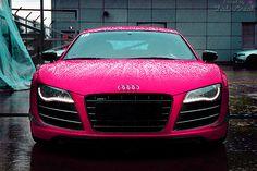 Wow. pink audi.
