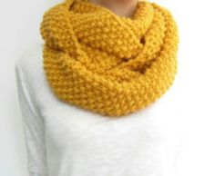 Mustard infinity scarf... Perfect fall color<3
